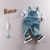 Wholesale Eco - Friendly Cotton Kids Denim Overalls Jeans For Toddler Boy / Girls from china suppliers
