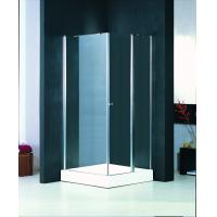 Wholesale Custom Glass Shower Enclosure 760 X 760 , Bathroom Shower Glass Enclosures With Chrome Knob from china suppliers