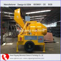 Wholesale electric diesel concrete mixer hydraulic mixer concrete mixer with ladder from china suppliers