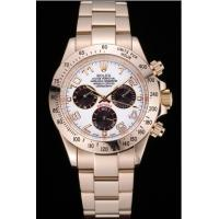 Wholesale Rolex Cosmograph Daytona White with Black Subdials Gold Bracelet rl47 Crideit card payment from china suppliers