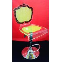 Wholesale High Grade Crystal Acrylic Bar Chair With Rolling Base For Gift , Colorful from china suppliers