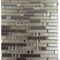 Wholesale Mix Colored Metallic Subway Tile Backsplash , Interlocking Metallic Kitchen Tiles from china suppliers