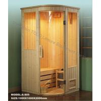 Wholesale Dry Steam Traditional Sauna , Electric Pine / Cedar / Hemlock Sauna Rooms from china suppliers