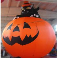 Wholesale 3m Oxford Inflatable Pumpkin With Cat For Halloween Decoration from china suppliers