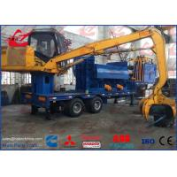 Buy cheap Mobile Metal Baler Logger Hydraulic Scrap Steel Baling Press With Trailer Remote Control from wholesalers