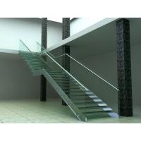 Wholesale Stainless Steel Glass Straight Staircases , Hot Deep Galvanization from china suppliers