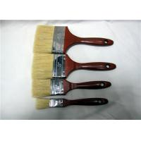 Wholesale Wholesale Bristle Paint Brush With Red Lacquered Wooden Handle Round Edge Iron from china suppliers