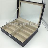Wholesale 8 Pairs Wood Eyeglass Display Case Portable Lockable Eyewear Store Storage Case from china suppliers