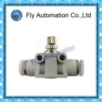 Quality Festo Speed Control Fittings Inline Flow Control Valve With QS Push - In Connector for sale