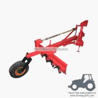 Wholesale 5GBRW - tractor 3point hitch grader blade with rippers with rear support wheel 5Ft from china suppliers