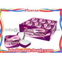 Wholesale Sour Fruit Flavored Candy , Strong Breath Mints After Eating With Custom Metal Tins from china suppliers