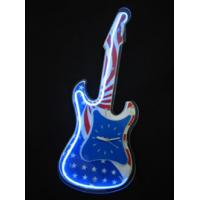 Wholesale Indoor Live Music Cowboy Neon Guitar Clock Signs For Coffee Bars from china suppliers