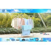 Wholesale X-type Indoor Outdoor Retractable Clothes Drying Rack / Mobile Towel Hanging Racks from china suppliers