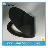 Buy cheap Quick Release Closed Front Ultra Slim V Shape Black Toilet Seat Covers from wholesalers