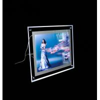 Wholesale Snap Frame Slim Crystal LED Light Box , Advertising Photo Frame With LED Light from china suppliers