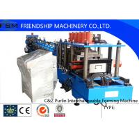 Wholesale PLC Control C Z Purlin Roll Forming Machine With Punching Systerm from china suppliers