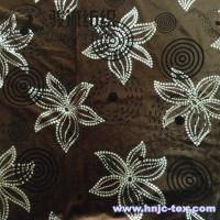 Wholesale Delicate polyester velvet and spandex flower printing fabric for decoration and upholstery from china suppliers