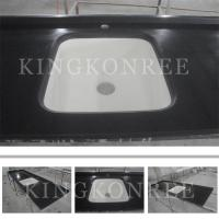 Wholesale Square man-made solid surface kitchen countertop and sink from china suppliers