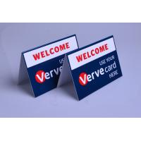 China Custom printed plastic PVC Verve Card payment way accepted display table tents on sale