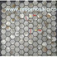 Wholesale River shell mosaic chip in hexagon  shape from china suppliers