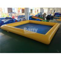 Buy cheap PVC Tarpaulin Square Inflatable Swimming Pool For Kids / Adults from wholesalers