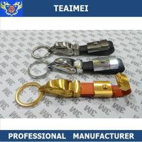 Wholesale Luxurious Jaguar Head Car Keychains , Custom Leather Keyrings from china suppliers