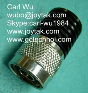 Wholesale N type attenuator 5 Watt 3Ghz N male plug fixed attenuators / N-J5W3G from china suppliers