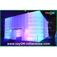 Wholesale Outdoor PVC Coated Giant Cube Inflatable Tent With Color Change Light / Air Blower from china suppliers