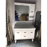 Quality Waterproof PVC Bathroom Cabinet Single Vanity Sink Cabinet With Mirror / Basin for sale