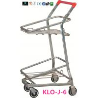 Wholesale American Style Metal Shopping Basket Trolley / Two Basket Shopping Cart 50KGS from china suppliers
