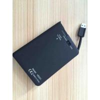 Quality Plastic Play And Plug 2.5 Hard Drive Enclosure Built In Cable , JMS578 IC Chipset for sale