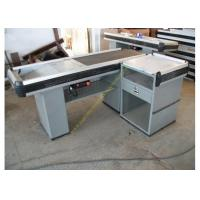 Wholesale Multifunctional Supermarket Checkout Counter With Conveyor Belt / Retail Cash Desk from china suppliers
