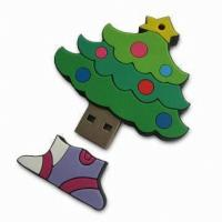 Quality Christmas Tree PVC USB Device Driver USB Flash Disk As Promotion Gift for sale