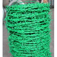Wholesale Electro Soft PVC Coated Barbed Wire Netting With Double Strand Galvanized from china suppliers