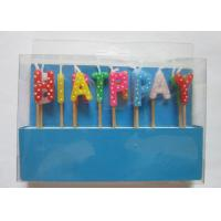 Wholesale Multi Colour Happy Birthday Toothpick Letter Cake Candles Stick Shape With Polka Dots from china suppliers