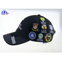 Wholesale Personalized Black Cotton Custom Baseball Caps with Embroidery Logo for ICC Cricket Wolrd Cup from china suppliers