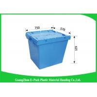 Wholesale 170L100% New Pp Heavy Duty Storage Bins , Plastic Box With Hinged Lid Space Saving from china suppliers