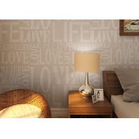 Wholesale 0.53*10M Modern Non - woven Wallpaper , Fashion LOVE English Letters Wallpaper from china suppliers