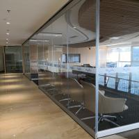 China Glass Divider Screen Movable Office Furniture Partitions Wall For Five Star Hotel on sale