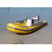 Buy cheap Fiberglass Hull Small Rib Boat 3.9 M Yellow Dimensional Stability With Boat Trailer from wholesalers