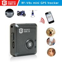 Wholesale Coin size bike gps tracker car sos button real-time alarm reachfar rf-v8s from china suppliers