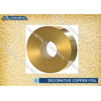 Wholesale Brass Rolled Copper Foil For Decorative Industry , copper sheet for crafts from china suppliers