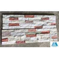 Quality White+Pink Jade Quartzite Cultured Stone Veneer Ledgestone Panel Stone Wall Cladding for sale