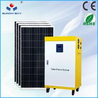 Wholesale 1500w mobile solar power system home solar panel system price for solar generator with mounting system from china suppliers