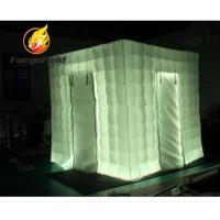 Buy cheap Promotional Inflatable Event Tents , Rental Two Doors inflatable photo studio With Air Blower from wholesalers