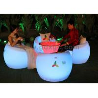 Wholesale Apple Shape Plastic and RGB Outdoor Chairs And Stools with Round table from china suppliers