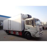 Wholesale Dongfeng 10 Ton Refrigerated Truck , -15 ℃ Refrigerated Delivery Truck With Rear Hydraulic Loading Plate from china suppliers