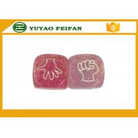 Wholesale Funny Acrylic Pink Cartoon 6 Sided Dice Sets For Kids Game 20x20x20mm from china suppliers