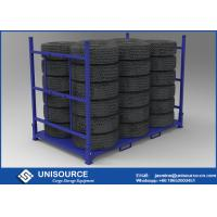 Wholesale Versatile Warehouse Tire Racks Ideal Designed Stackable To Hold 28 - 40 Tires from china suppliers