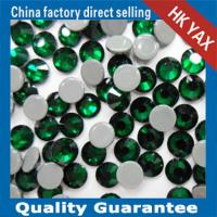 Wholesale 0428 YAX205 Emerald color china swainstone senior brand hot fix crystals rhinestones from china suppliers